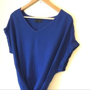 Atmosphere Blue Short Sleeve Blouse